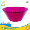 "hot sale portable 10"" deep pink round shape melamine small bowl"