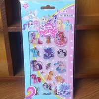 free shipping wholesale 2000sheets hotselling 3D phone sticker my little pony kids stickers party supply gift for kids