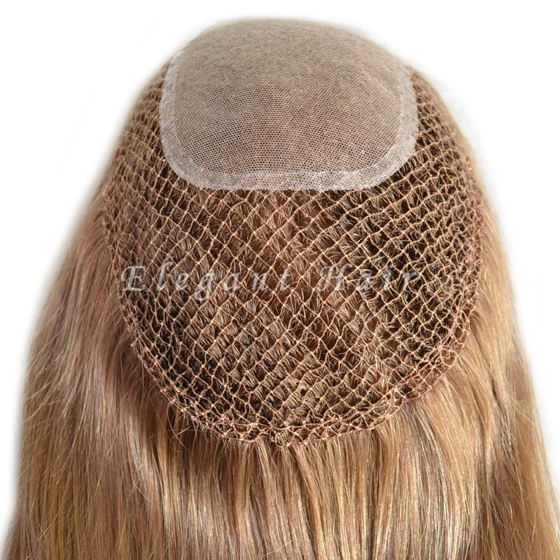 fish net swiss lace integration human hair women toupee