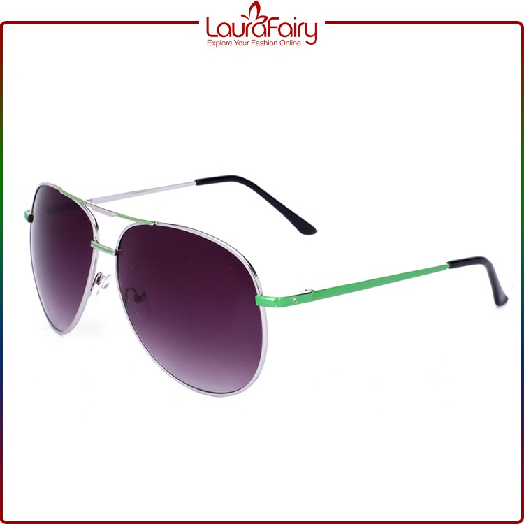 Laura Fairy Promotional Popular Insert Multicolor Frame Metal Sunglasses For Lady