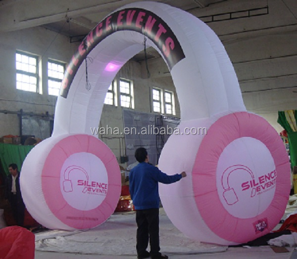 5.5m Custom event advertising/promotional inflatable arch/archway/entrance/door/indoor/outdoor/for decoration/pink