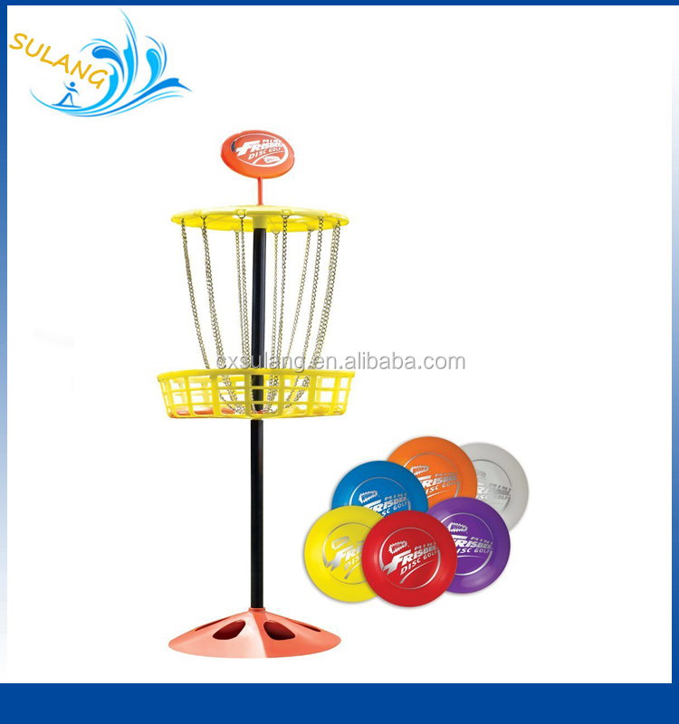 Factory Diretly Mini Frisbee Flying Golf Disc Basket Game Indoor and Outdoor Toy Set