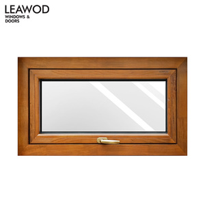 KW75 Aluminium Wood Composite Vertical Opening Awning Window