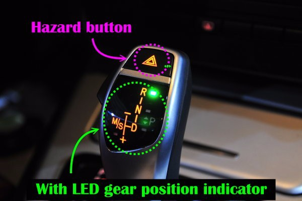 LED gear shift knob for BMW E38 E39 E60 E46 E90 E92 E82 E87 E84 E83 E53 E85 E89 1998 2011 Auto Reverse Hazard