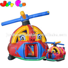 inflatable children bouncy castle helicopter kids ball pool for sale
