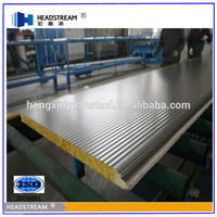 High strength galvanized steel floor decking eco-friendly construction wall board eps cement sandwich panel from shandong boxing