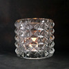 Cut Diamond Crystal Glass Candle Cup Votive Candle Holder 150ML 300ML