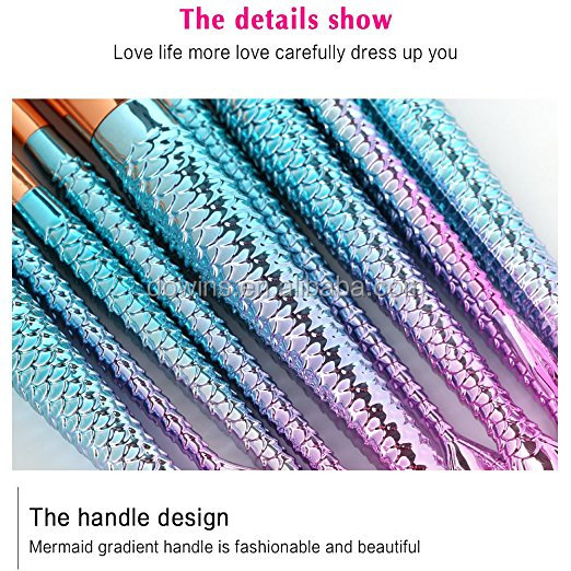 Factory supply high quality glitter diamond makeup brushes set