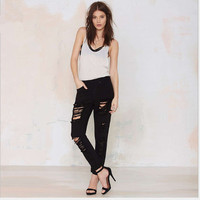 MS67791W color black slim women fashion famous jeans brand