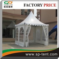 2014 Wholesale Aluminum Pole Frame Japanese pagoda garden tent 3x3m with logo printing