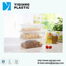 rectangular clear wholesale plastic disposable snack food container