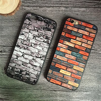 Vintage Brick Architectrure Style Hard PC Phone Case for iPhone 6 6S 6plus