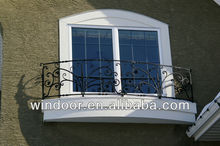 Grill Type PVC Window with Wrought Iron
