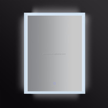 JNH131 Newly-Designed Decorative Silver LED Bathroom Wall Mirror With Clock