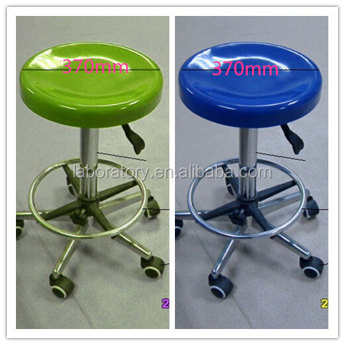 Adjustable Lab Stool / Swivel Laboratory Chair With Feet Ring