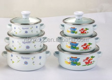 Wholesale Quality guarantee porcelain enamel cookware mini casserole sets china product of enamel kitchen utensil