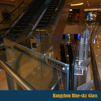 LT 6+0.76PVB+6mm thick custom size laminated clear plate glass for balustrade with certificate and competitive price