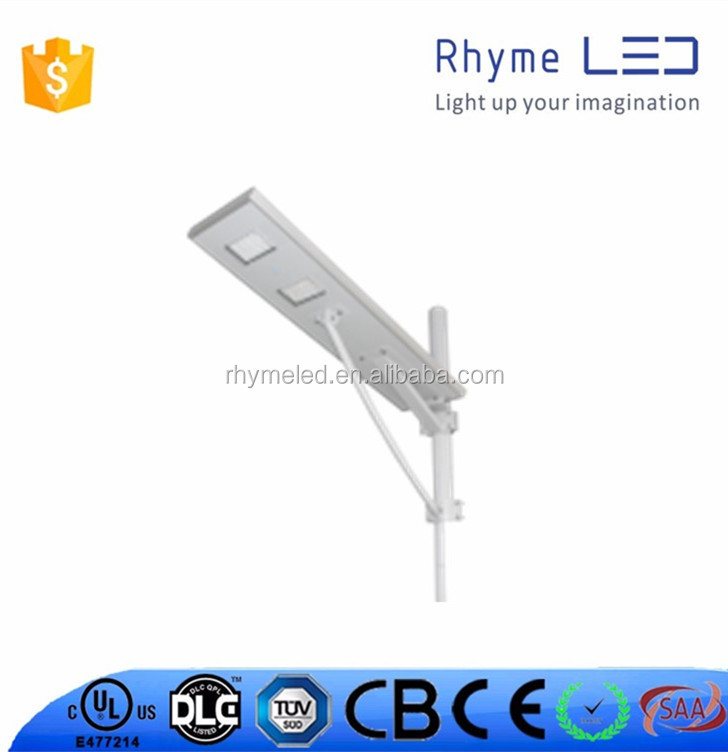 30w all in one solar led street light with 5 lithium battery