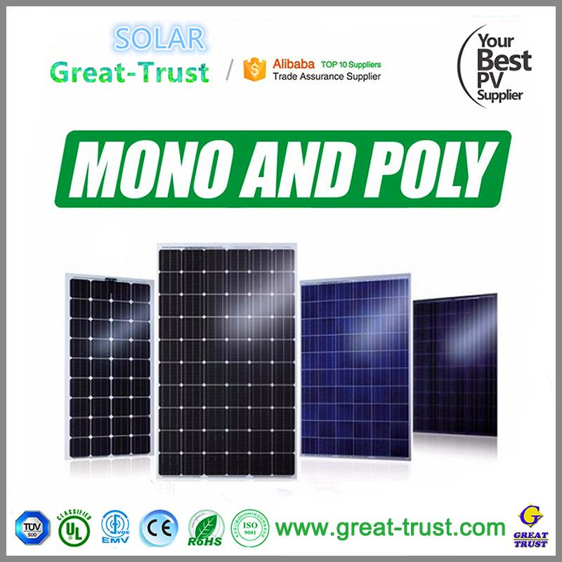 Multifunctional solar panel support structures solar panel strips 250w poly solar panel