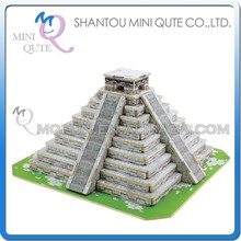 Mini Qute 3D Wooden Puzzle Maya Pyramid world architecture famous building Adult kids model educational toy gift NO.JPD561