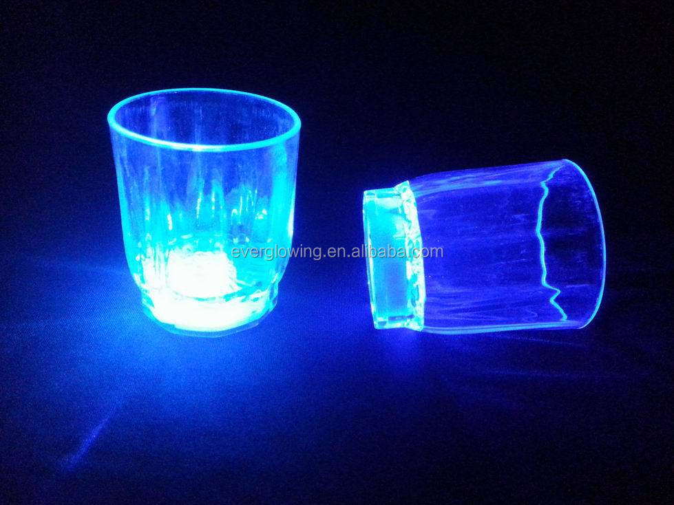 color change LED flash glass HOT sell 2016 for bar/night clubs