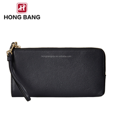 New popular fashion design black color wristlet bag clutch-handbags leather pu wallet for women lady