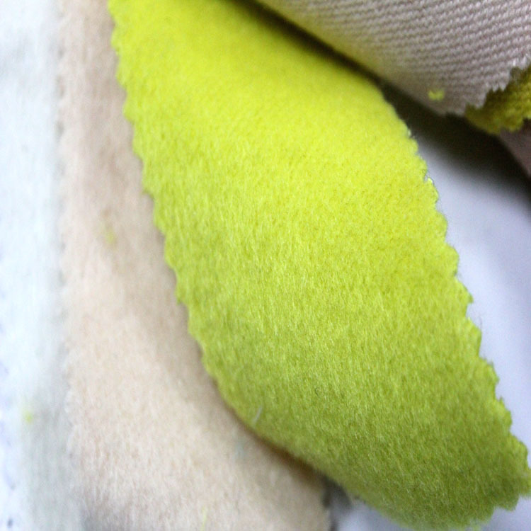 High Quality Wool Blend Knit Yellow Plush Wool Coat Fabric