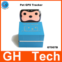 GH Black pet gps tracking system G-T007 hot selling in USA Sweden Norway France etc with gps children tracker pet chip