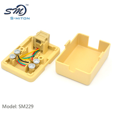 Wholesale Beige color 4 core RJ11 telephone terminal box