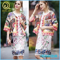 2015 ethnic clothing chic look design ethnic colorful embroidered short coats