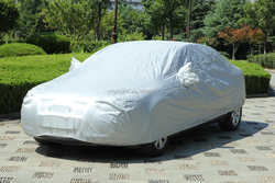 Customized 190T polyester coated silver Car Cover