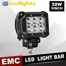 Factory price! Motor Spare Parts Black 30W Single LED Front Lights IP68 Motorcycle Projector led motorcycle headlight