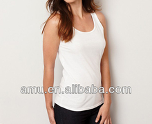 2014 popular tank top for ladies fancy white tops for women