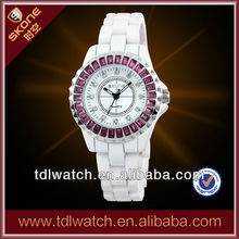 7240 Wholesale Fashion Women Watch With White Ceramic Watch Band
