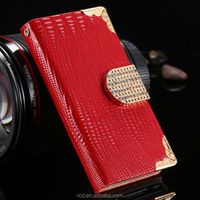 Fashion Rhinestone Leather Bling Bling Card Pouch Cover Case For iPhone 4 4S RCD00391