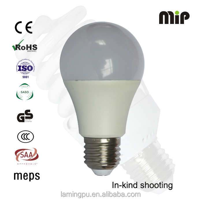 high quality IC driver A60 9W E27 LED bulb