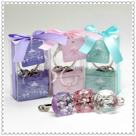 Under 1 Dollar Crystal Diamond Key Ring Cheap Wedding Gifts
