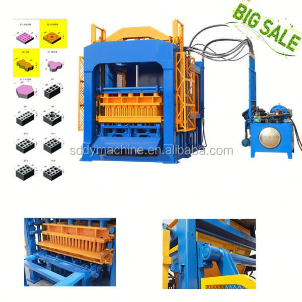 Best selling in alibaba QT4-15 electric stationary concrete mixer price brick block machine in pakistan