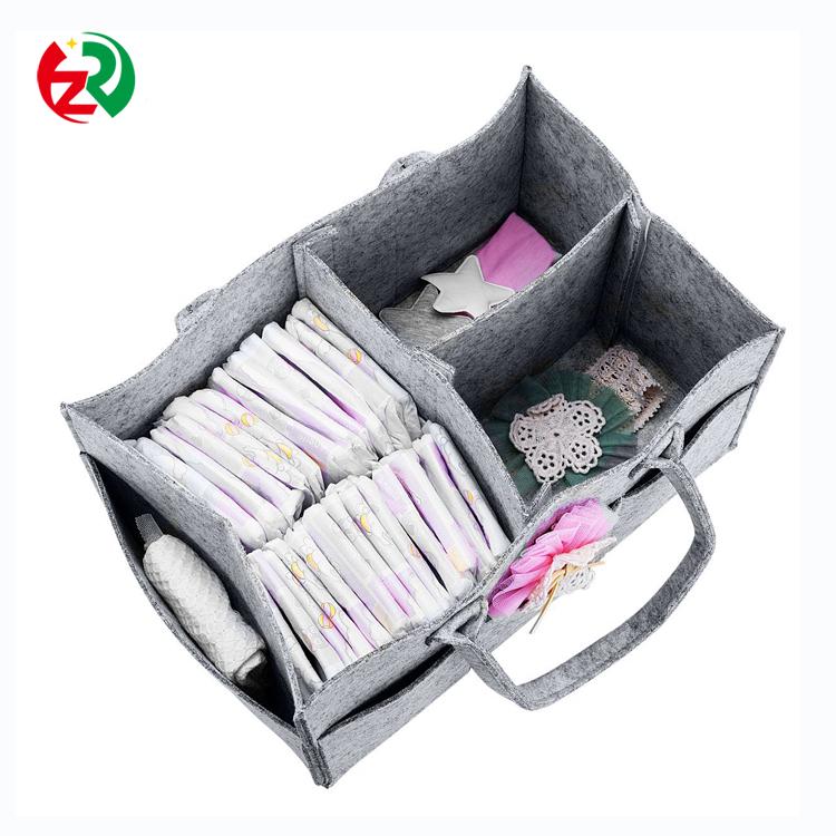 Fazer uma ordem de amostra Grátis do berçário do bebê portátil organizador logotipo personalizado sentiu fralda caddy de fornecedores da China