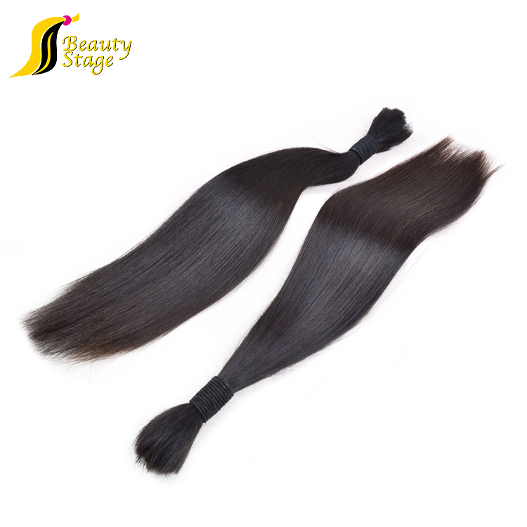 100 pure Raw brazilian virgin human hair bulk,bulk hair extensions wholesale afro kinky human hair bulk,can online buy bulk hair