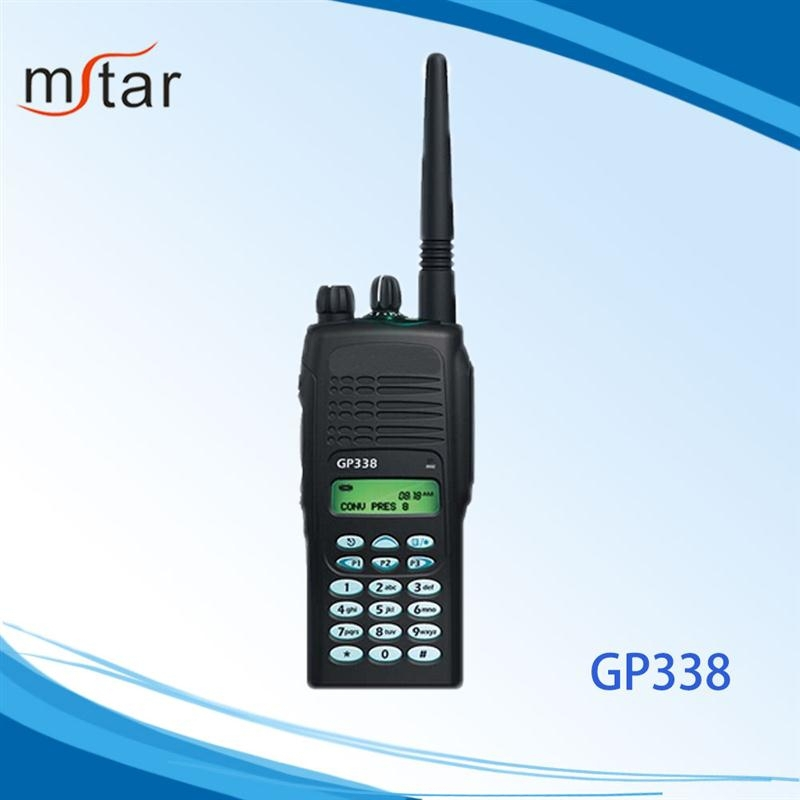 wholesale wireless UHF/VHF two way radio GP338 with high quality can work with repeater