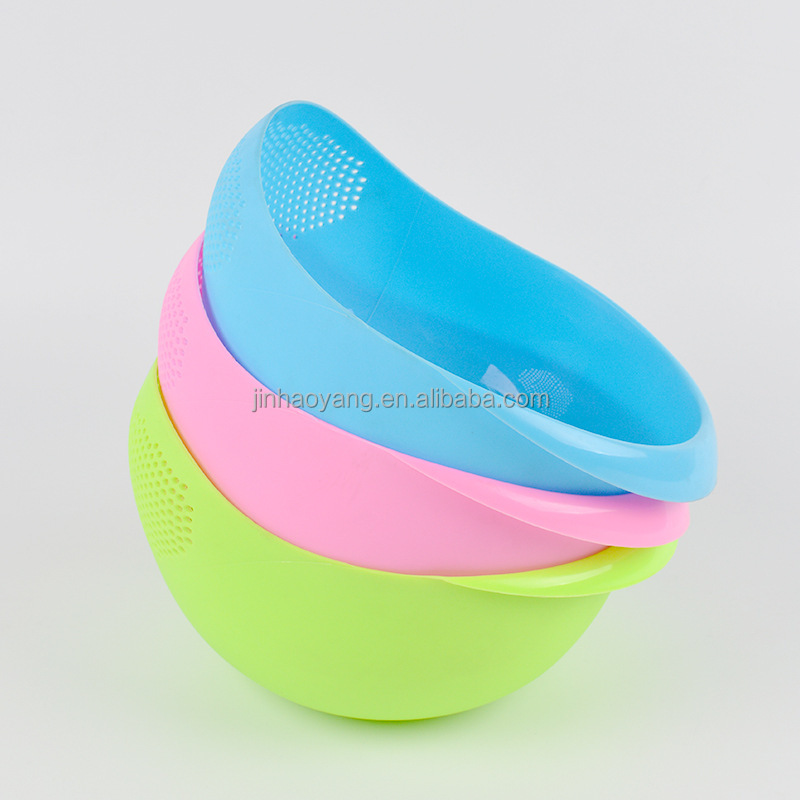 JHY High quality plastic rice washing basket/rice drain basket /vegetable&fruit folding drain basket