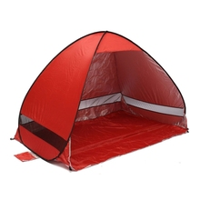 Foldable Free Automatic Quick Speed Build Open Outdoor Camping Beach Tent with Carrying Bag for 2 Adult or 3 Children Use