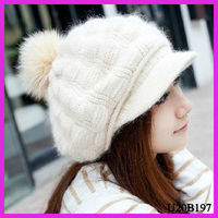 Fashion ladies winter wool felt hat capeline with high quality