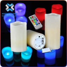 Wireless rechargeable candle light touch decorative egg shaped glass table led candle