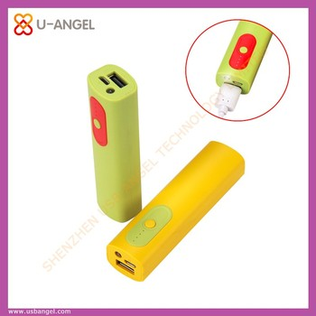 factory wholesale colourful USB power bank with lamp