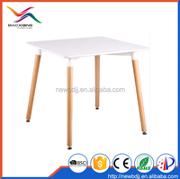 Biaoxiang Hot Sell Modern Design Square MDF Dining Table With Wood Leg Z-208