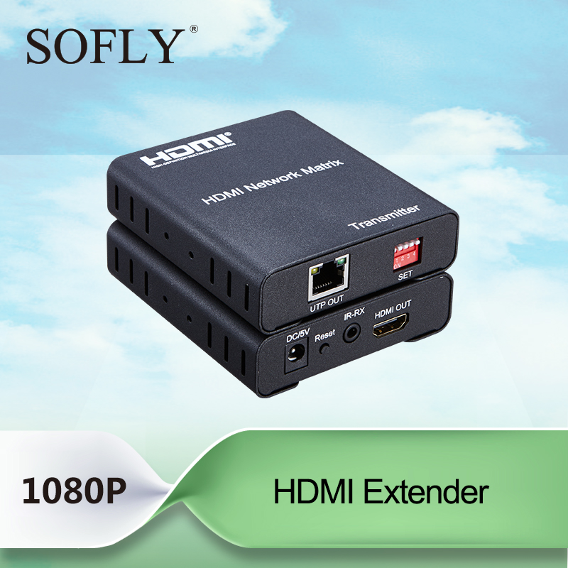 HDMI network matrix Extender 120M over IP by CAT5e/6 cable