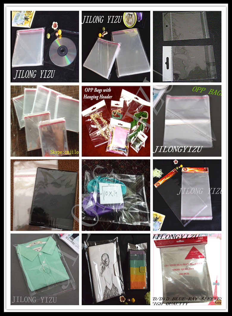 OPP Cellophane Self adhesive Sealing CD/Toys/Garments Clear Packaging Opp bag