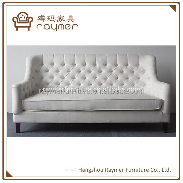White High Wing Back Antique Tufted Banquette Dining Sofa